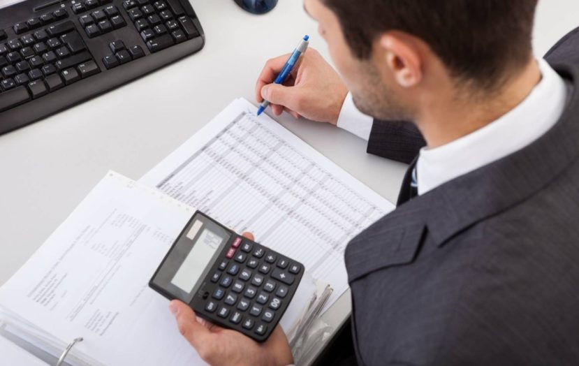 Accountant Working At The Office